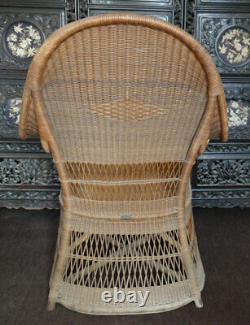 Rare Original Antique Arts and Crafts DRYAD No 161 Wicker Chair by H PEACH c1910