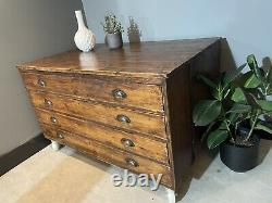 Rare Victorian Architects Artist Plan Chest Beautiful Patina Arts and Crafts