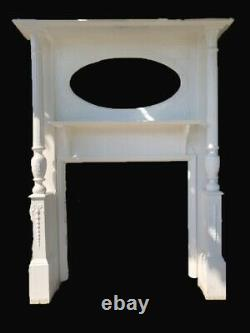 Reclaimed Antique Arts And Craft Victorian Edwardian Wooden Fireplace Surround