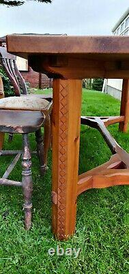Refectory Arts and crafts Dining Table, Pitch Pine