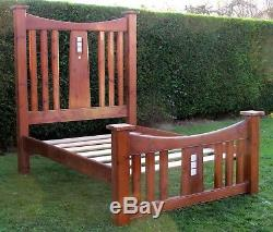 Reproduction Arts and Crafts Mission Style Double Bed with Pine Base