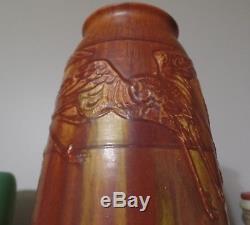 Rookwood Huge 15 Arts and Crafts Ombroso Glaze Vase with Storks Hentschel 1911