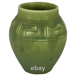 Rookwood Pottery 1905 Matte Green Greek Key Design Arts and Crafts Vase 1079