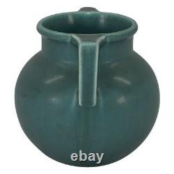 Rookwood Pottery 1924 Turquoise Green Arts And Crafts Handled Vase 2078
