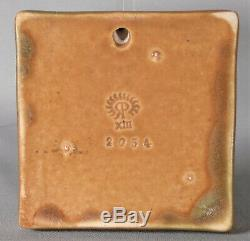 Rookwood Pottery Elephant Tile Paperweight 1913 Arts and Crafts Matte Brown