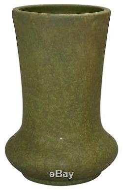 Roseville Pottery Early Carnelian Matte Green Arts and Crafts Vase