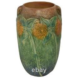 Roseville Pottery Sunflower Arts and Crafts Vase 494-10