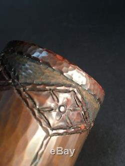 Roycroft Copper Pipe Vase by Walter Jennings Marked Old Arts and Crafts Gem