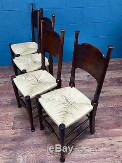 Set of 4 Arts and Crafts Dining Chairs, William Birch (100356)