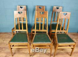 Set of 8 Arts and Crafts Dining Chairs, J. A. S Shoolbred (100800)