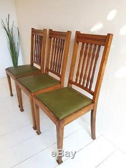 Solid Oak Dining Chairs Arts And Crafts