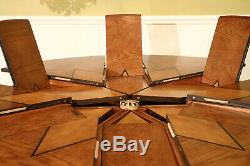 Solid Walnut Arts and Crafts Expandable Round Dining Table