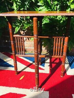 Stunning Art And Crafts Folding Oak Table (possibly Liberty)