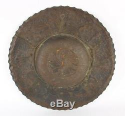 Stunning Arts and Crafts Huge Brass Charger Cornish Newlyn John Pearson Interest
