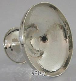 Stunning Solid Silver Arts And Crafts Bowl Dish 1931 Antique Hand Hammered