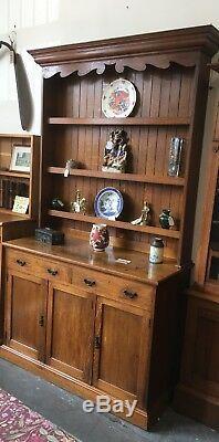 Stunning Superb Quality Oak Arts And Crafts Welsh Dresser