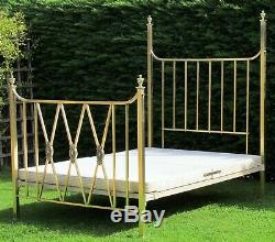 Stunning Victorian Brass with Iron Standard Double Bed with Platform Base