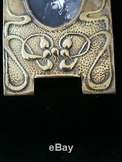 Sublime Original Scottish Arts And Crafts, Art Nouveau Rare Brass Photo Frame
