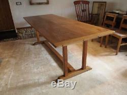 Table Arts and Crafts Oak Heals refectory dining Abbotts Bromley school c1910