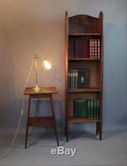 Tall arts and crafts Heals & Son open bookcase