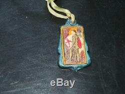 Three Compton pottery arts and crafts pendants, circa 1910