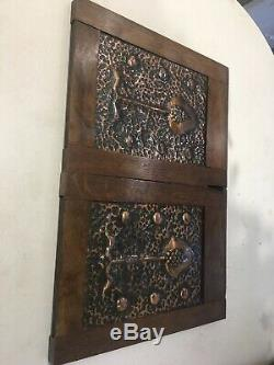 Two Large Arts And Crafts / Art Nouveau / Secessionist Hand Beaten Copper Panels