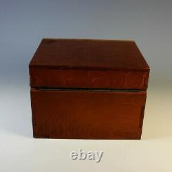 Unique Arts and Crafts Style Hinged Wood Box