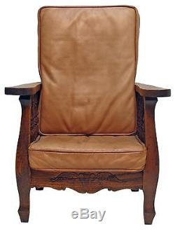 Unusual American Arts and Crafts Morris Style Child's Chair / Salesman Sample