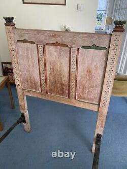 VINTAGE Arts And Crafts Style Single Bed