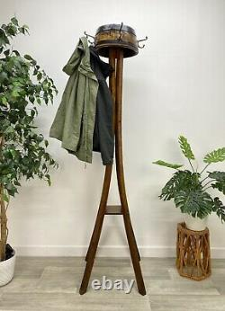 Very Quirky Antique, Art Deco, Hall Stand With Coat Hooks, Arts And Crafts JL62#