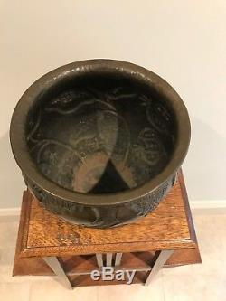 Very Rare Original Arts and Crafts Copper NEWLYN bowl vase by JOHN PEARSON
