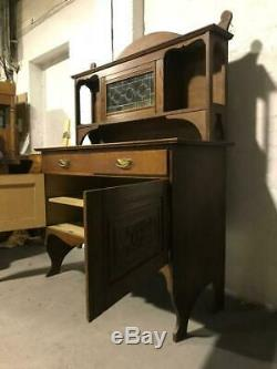 Victorain oak arts and crafts sideboard with dresser top