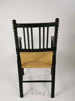 Vintage Antique Arts And Crafts William Morris Style Bobbin Carver Hall Chair