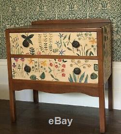 Vintage Arts And Crafts Chest Of Drawers Hand Painted