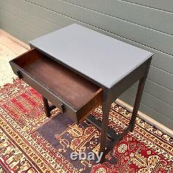 Vintage Arts And Crafts Style Oak Side Table / Oak Writing Table