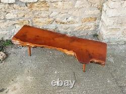 Vintage Live Edge coffee table, Rustic, arts and crafts, Tree trunk, side table