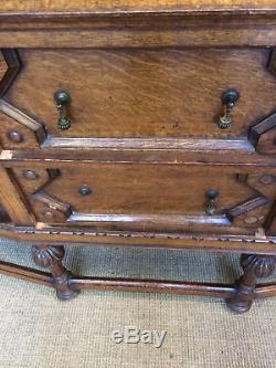 Vintage Retro Oak Arts And Crafts Sideboard