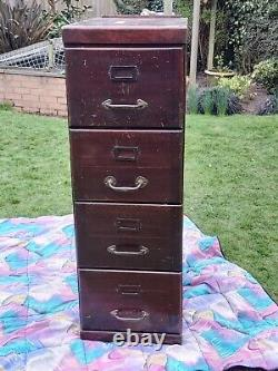 Vintage Wooden Filing Cabinet Arts And Crafts Style Poss WN Edgley Manufactured