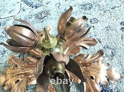 WAS Benson Arts and Crafts Brass/Copper Ceiling Light