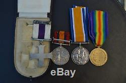 WW1 & Boer War Military Cross Gallantry Medals 18th'Arts and Crafts' KRRC