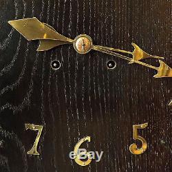 Wall Clock Arts & Crafts, Oak and Brass, C1900