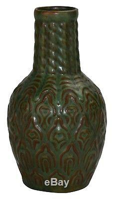 Weller Pottery Orris Matte Green Arts and Crafts Bottle Vase