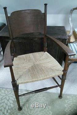 William Birch oak arm chair arts and crafts liberty