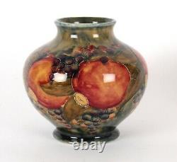 William Moorcroft Liberty & Co Ochre Pomegranate Arts and Crafts Open Fruit Vase
