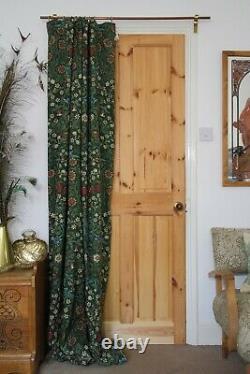 William Morris Blackthorn Portiere Velvet Lined Door Curtain