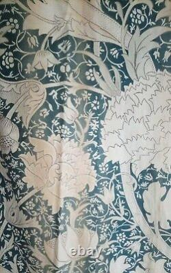 William Morris & Co Curtains ca 1900 with Label Arts and Crafts Design Victorian