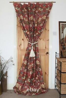 William Morris Strawberry Thief Portiere Door Curtain Wool Lined